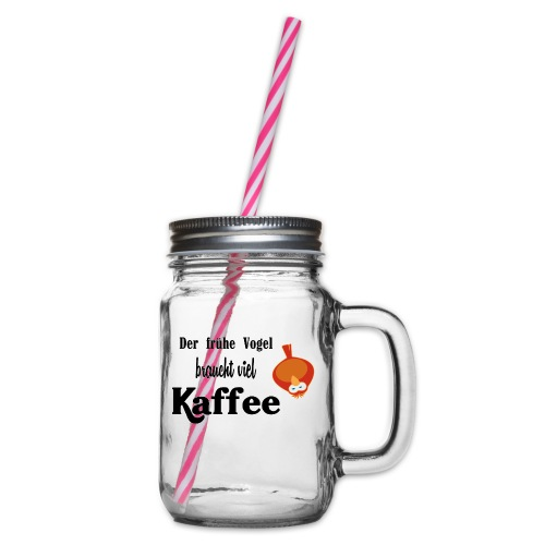kaffeeVogel.png - Henkelglas mit Schraubdeckel