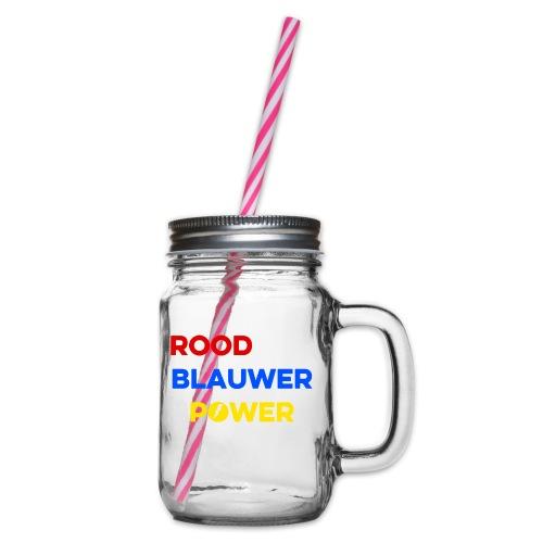 Rood Wit Blauwer Power - Drinkbeker met handvat en schroefdeksel
