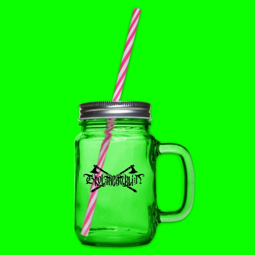 Grol Logo - Glass jar with handle and screw cap