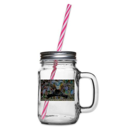 Mojitos Azul (b jade) - Glass jar with handle and screw cap