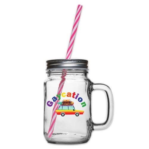 Gaycation   LGBT   Pride - Henkelglas mit Schraubdeckel