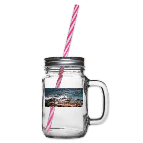 Handy Hülle Meer - Henkelglas mit Schraubdeckel