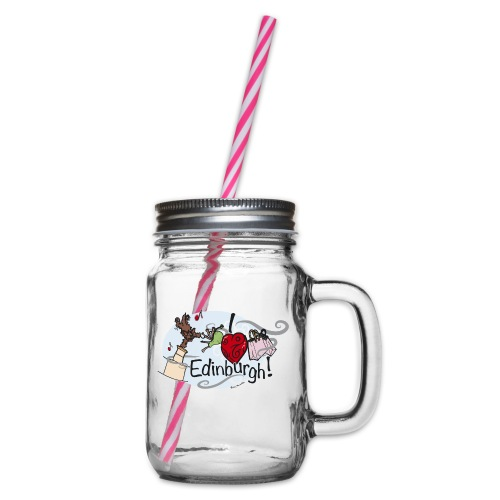 I love Edinburgh - Glass jar with handle and screw cap