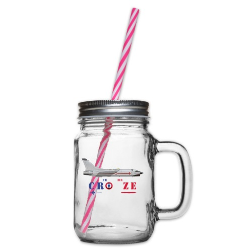 Fear the Crouze - Glass jar with handle and screw cap