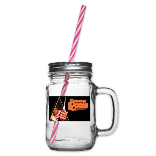 Clockwork Boris - Glass jar with handle and screw cap