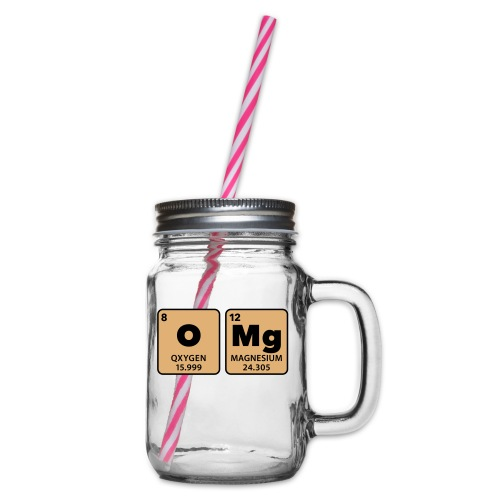 periodic table omg oxygen magnesium Oh mein Gott - Glass jar with handle and screw cap