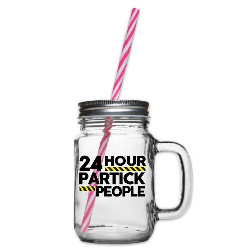 24 Hour Partick People - Glass jar with handle and screw cap