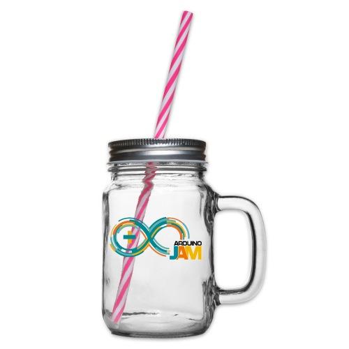 T-shirt Arduino-Jam logo - Glass jar with handle and screw cap