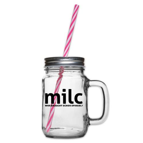 milc - Henkelglas mit Schraubdeckel
