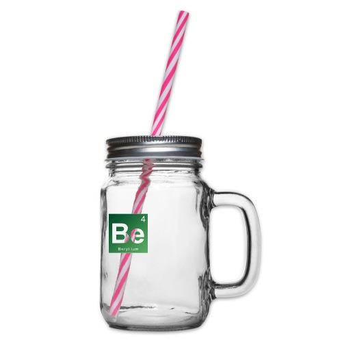 Be - Beryllium- Bernau - Henkelglas mit Schraubdeckel