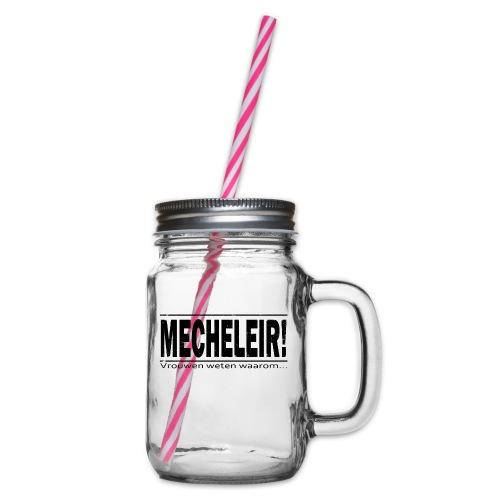 Mecheleir vrouwen weten - Drinkbeker met handvat en schroefdeksel