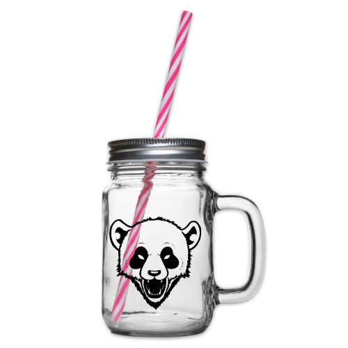 Panda - Henkelglas mit Schraubdeckel