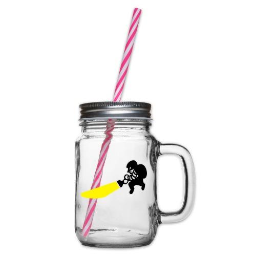 Dieb - Henkelglas mit Schraubdeckel