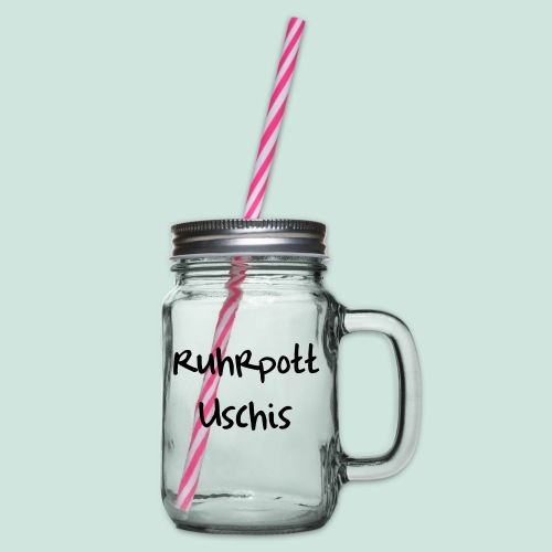 Ruhrpott Uschis1 - Henkelglas mit Schraubdeckel