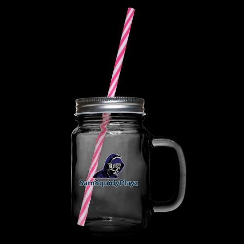 SamSquidyplayz skeleton - Glass jar with handle and screw cap