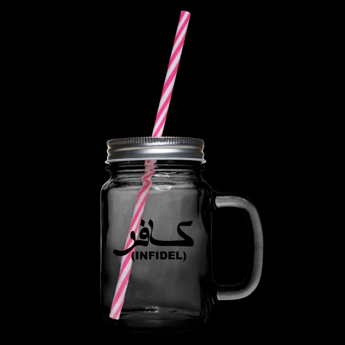 INFIDEL - Glass jar with handle and screw cap