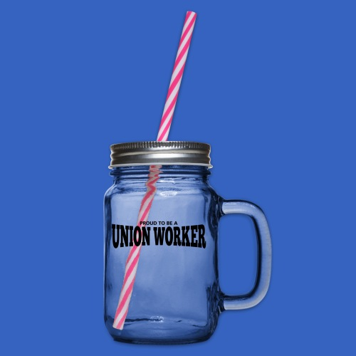 Union Worker - Henkelglas mit Schraubdeckel