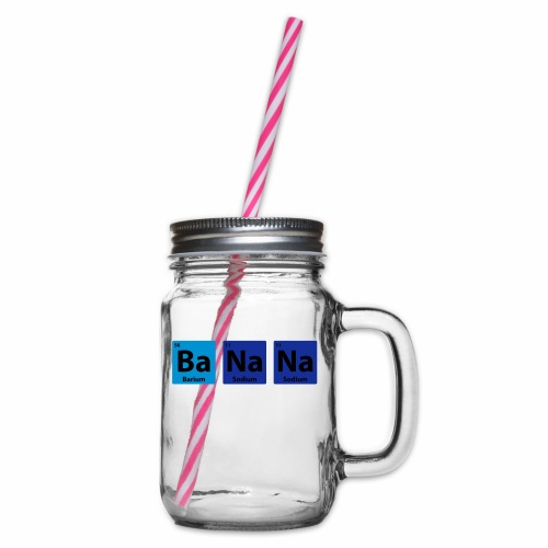Periodic Table: BaNaNa - Glass jar with handle and screw cap