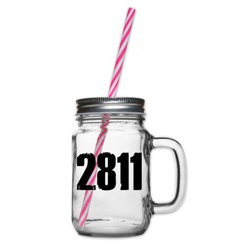 2811 - Drinkbeker met handvat en schroefdeksel