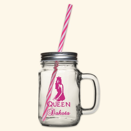 Queen Dakota - Glass jar with handle and screw cap