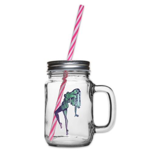 Mama Nature Northern Lights - Glass jar with handle and screw cap