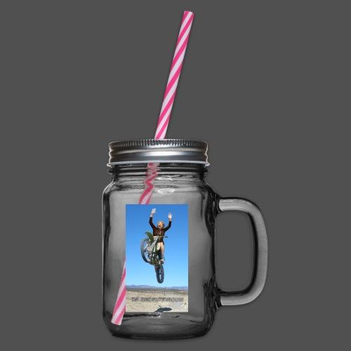 Stuntvrouw - Drinkbeker met handvat en schroefdeksel
