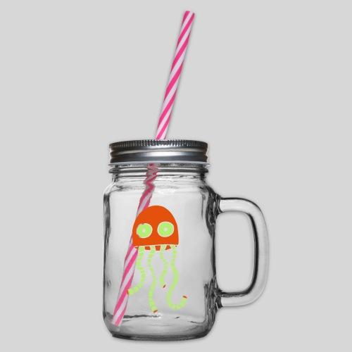 alien1 - Henkelglas mit Schraubdeckel