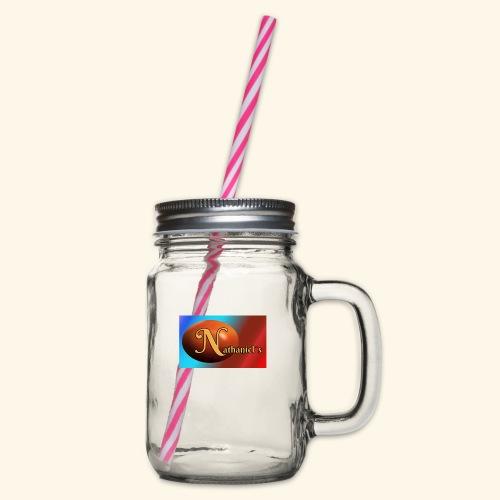 NathanielsLogo2 - Henkelglas mit Schraubdeckel