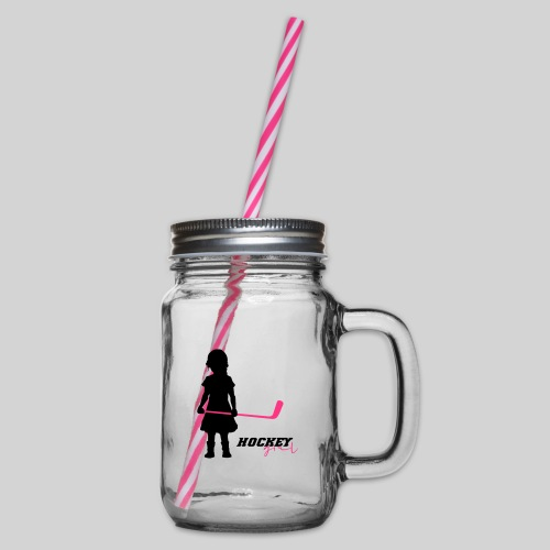 Hockey Girl I - Henkelglas mit Schraubdeckel
