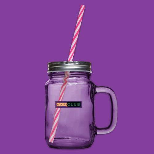 Homies.CLUB - Glass jar with handle and screw cap