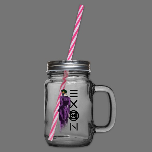 Emotionless Passion Exon - Glass jar with handle and screw cap