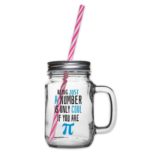 Zahl Pi Geek Spruch - Henkelglas mit Schraubdeckel