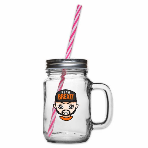 KingB - Glass jar with handle and screw cap