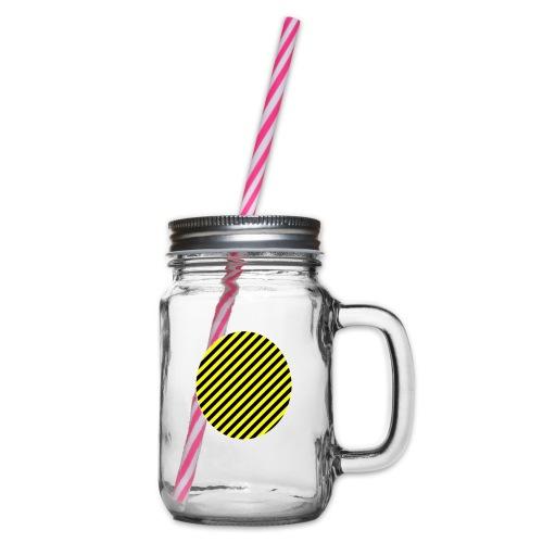 varninggulsvart - Glas med handtag och skruvlock
