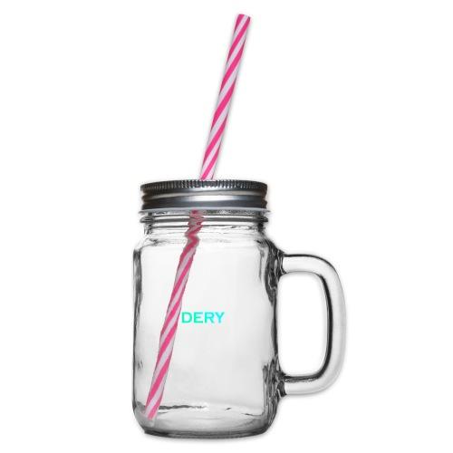 DERY - Henkelglas mit Schraubdeckel