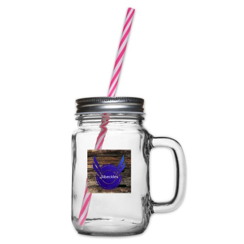 JAbeckles - Glass jar with handle and screw cap