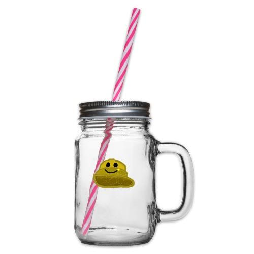 EinfachMC-Logo - Henkelglas mit Schraubdeckel
