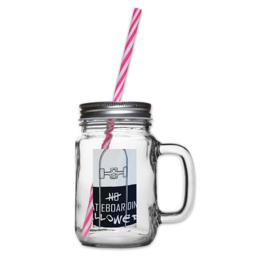 My new merchandise - Glass jar with handle and screw cap