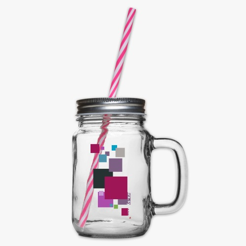 ontwerp t shirt png - Glass jar with handle and screw cap