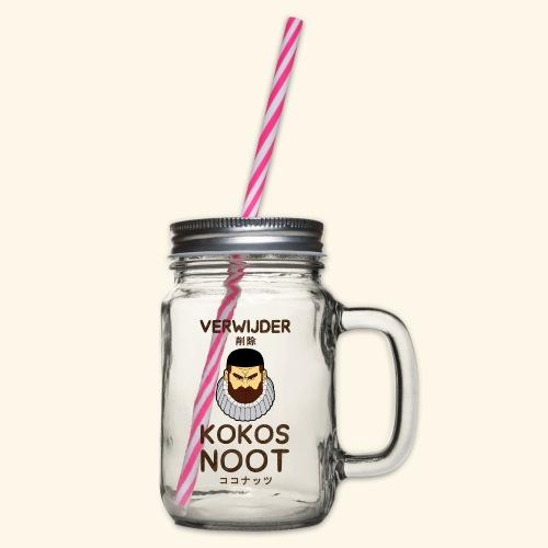 Verwijder Kokosnoot - Drinkbeker met handvat en schroefdeksel