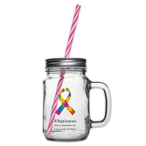 Inter-Mundos Autismus-Schleife - Henkelglas mit Schraubdeckel