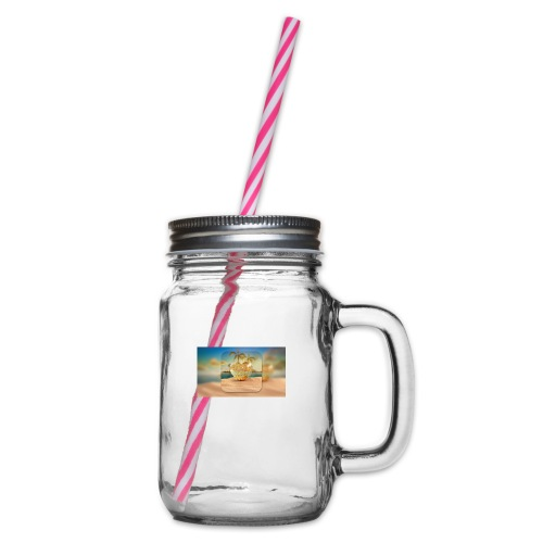 Love Island - Glass jar with handle and screw cap