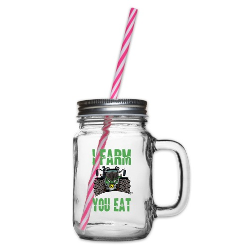 I farm you eat F - Drinkbeker met handvat en schroefdeksel