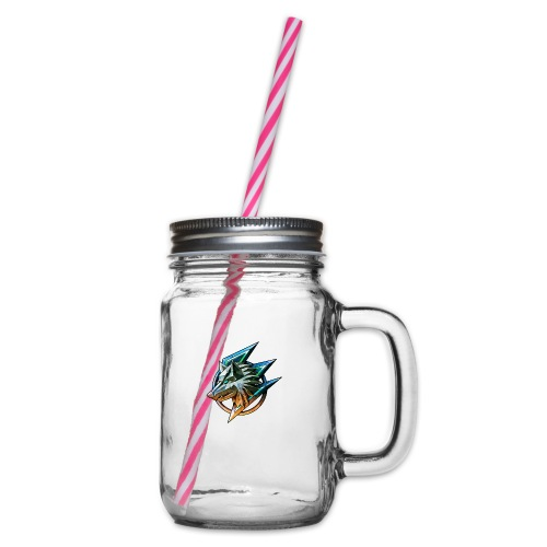 AZ GAMING WOLF - Glass jar with handle and screw cap