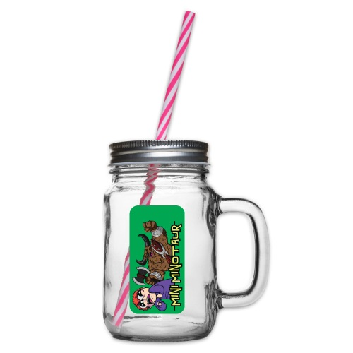 iphone 44s01 - Glass jar with handle and screw cap