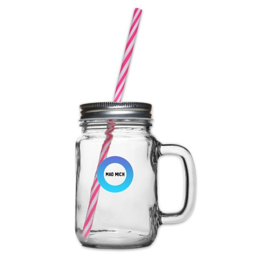 Logo - Glass jar with handle and screw cap