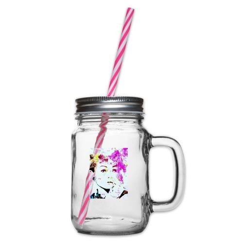 Audrey - Henkelglas mit Schraubdeckel