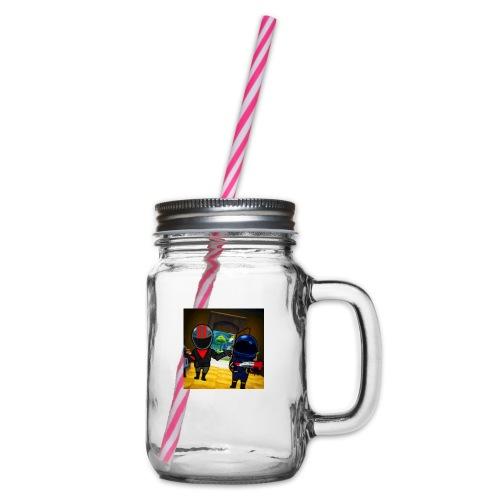 gg - Glas med handtag och skruvlock