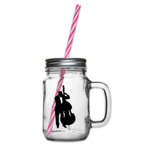 Kontrabass - Henkelglas mit Schraubdeckel