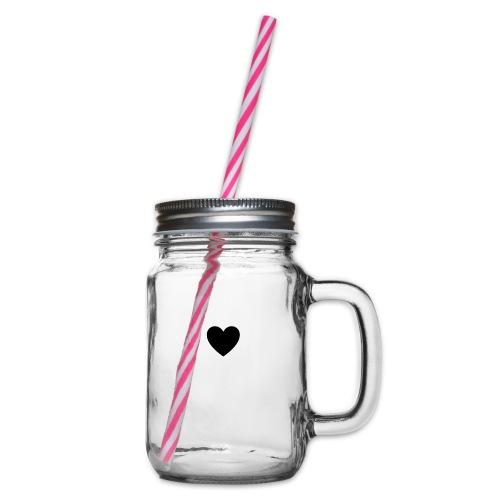 heart - Glas med handtag och skruvlock